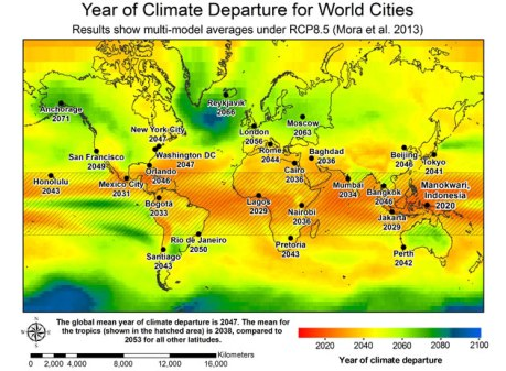 year of climate diparture map