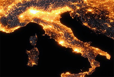 Italia di notte