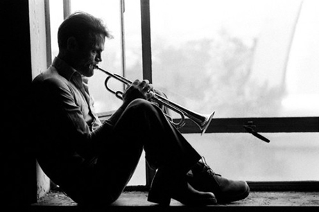 Chet Baker Playing Trumpet