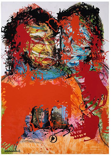 Icona rossa n¯13 -olio su tela, cm. 70X100_web