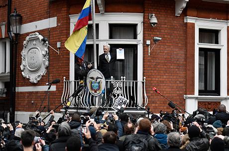 Julian Assange a Londra